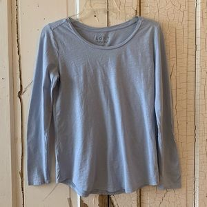Loft Vintage Soft pale blue long sleeve tee Small